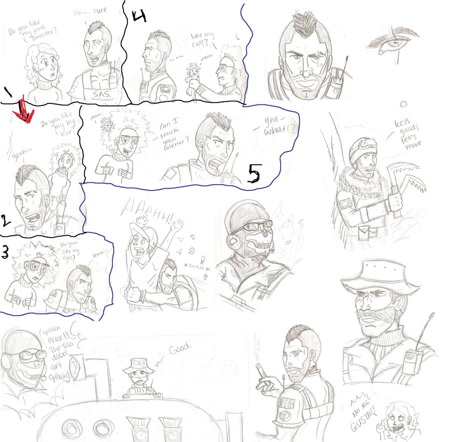 COD: Crappy Sketch Dump by chocolatetater-tot