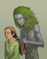 Abbey Braiding Eleanor's Hair by DimeSpin