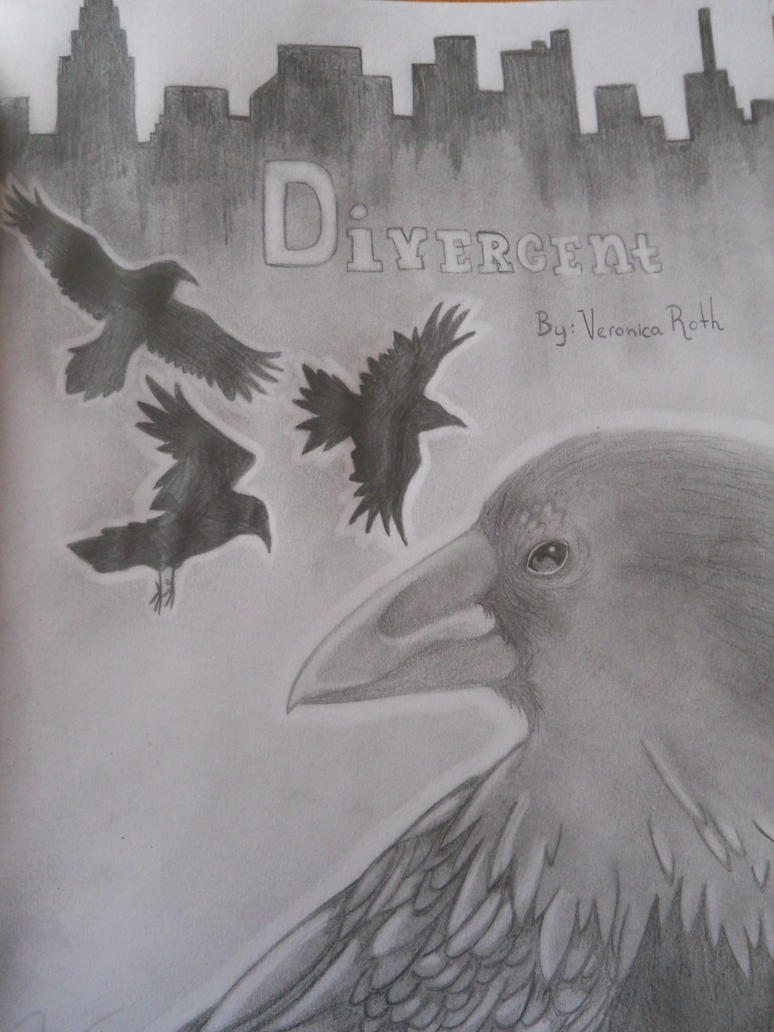 Divergent Book Cover Drawing ~ Divergent book cover alt by prisma colored on deviantart