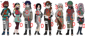 Naruto Adoptables Auctions - Masked OCs CLOSED by mistressmaxwell