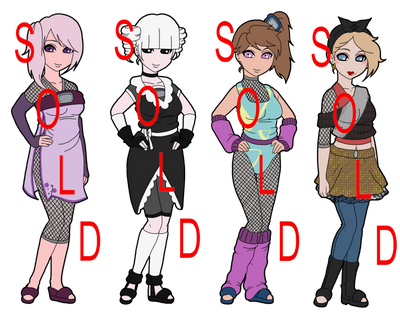 Mixed Leftover Naruto Adoptables - SOLD OUT by mistressmaxwell