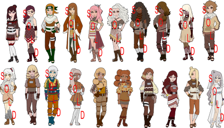 Cake Theme Naruto Collab Adoptables - 8 LEFT by mistressmaxwell
