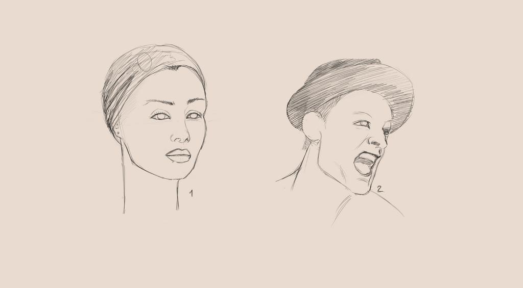Portrait Practice.x6 by AliceKeat