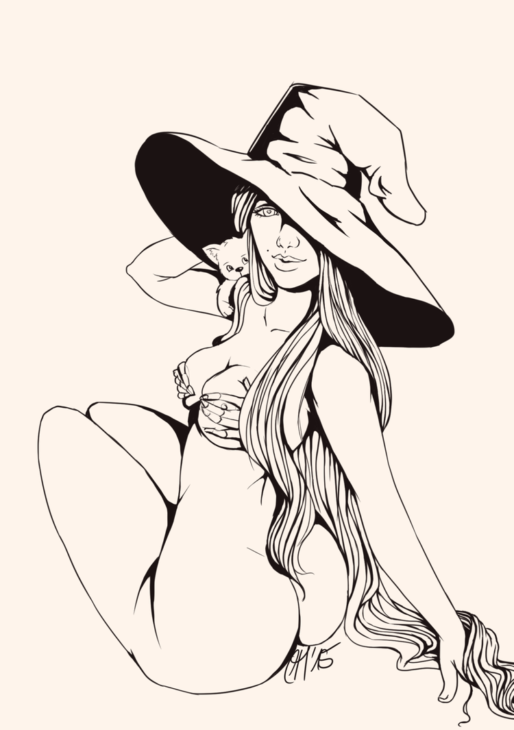 Sexy-witch-lines by AliceKeat
