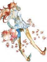 Fujimoto and Ponyo's sisters by muttiy