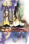 Watercolor: Aloha Tower