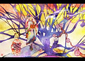 Mononoke: Fantasy of plum tree by muttiy