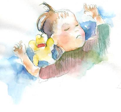 Watercolor: My baby II by muttiy