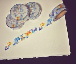 Masking tape: Watercolor Hydrangea by muttiy