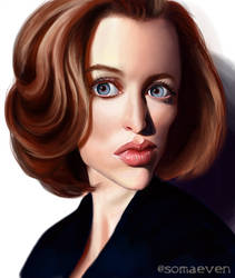 Gillian Anderson as Agent Scully by ThatsSoMaeven