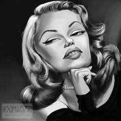Rita Hayworth by ThatsSoMaeven