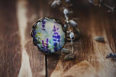 Lavender Photo Art Ring