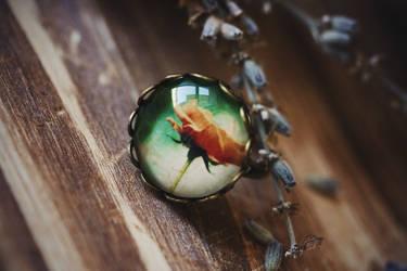 Rose Photo Art Ring