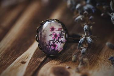 Flower Photo Art Ring