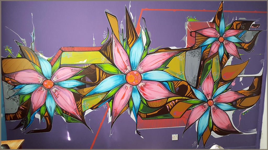 Die Psichodelishe Blume by giega