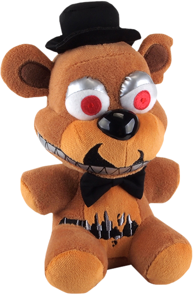 Nightmare Freddy Plushie Tranceparent by dylansurovec
