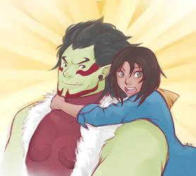 Hug the papa orc