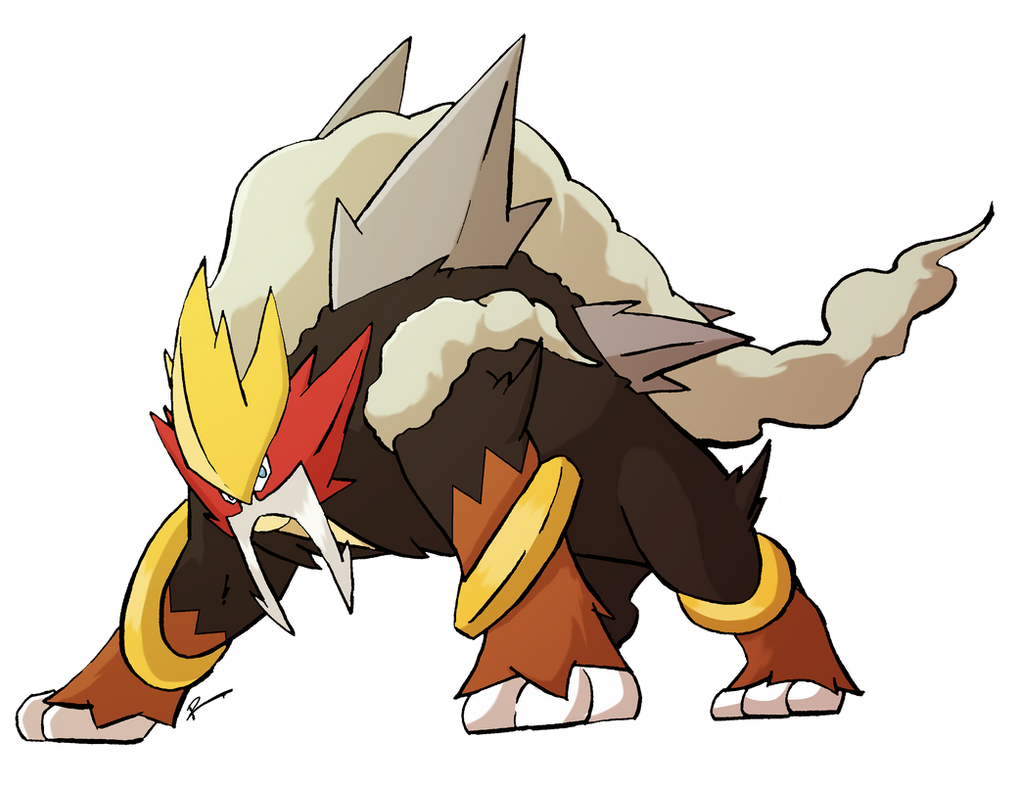 Mega ENTEI Made By Rey menn Pokemon