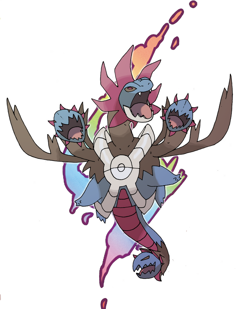 Mega Hydreigon Collab by rey-menn on DeviantArt