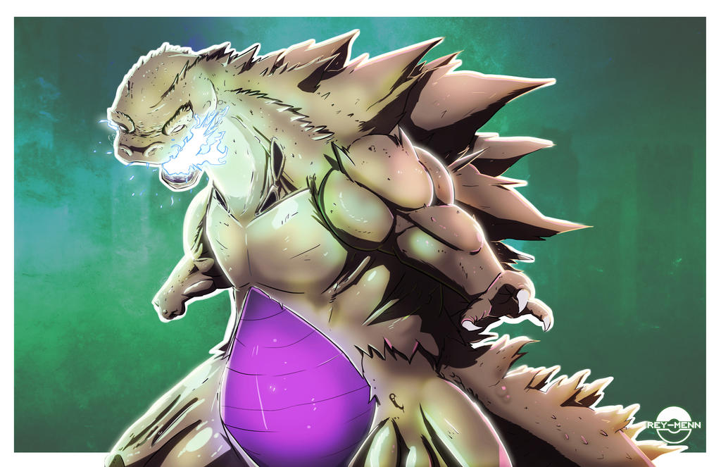Shiny Tyranitarzilla by rey-menn