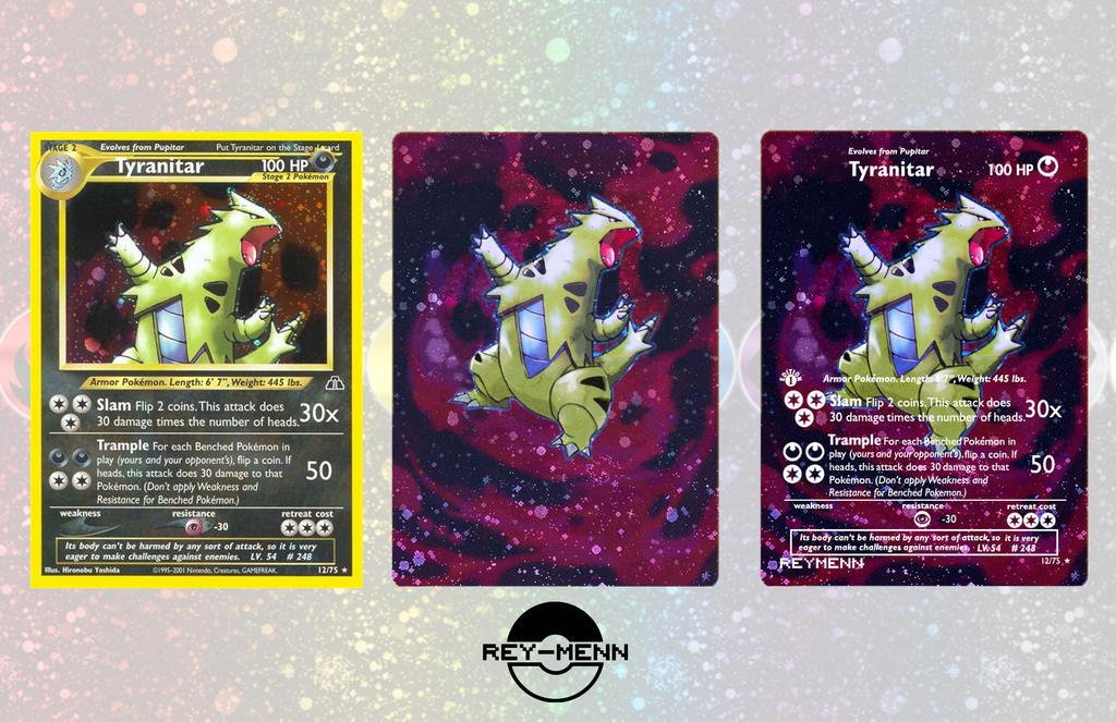 Custom Tyranitar Card by rey-menn