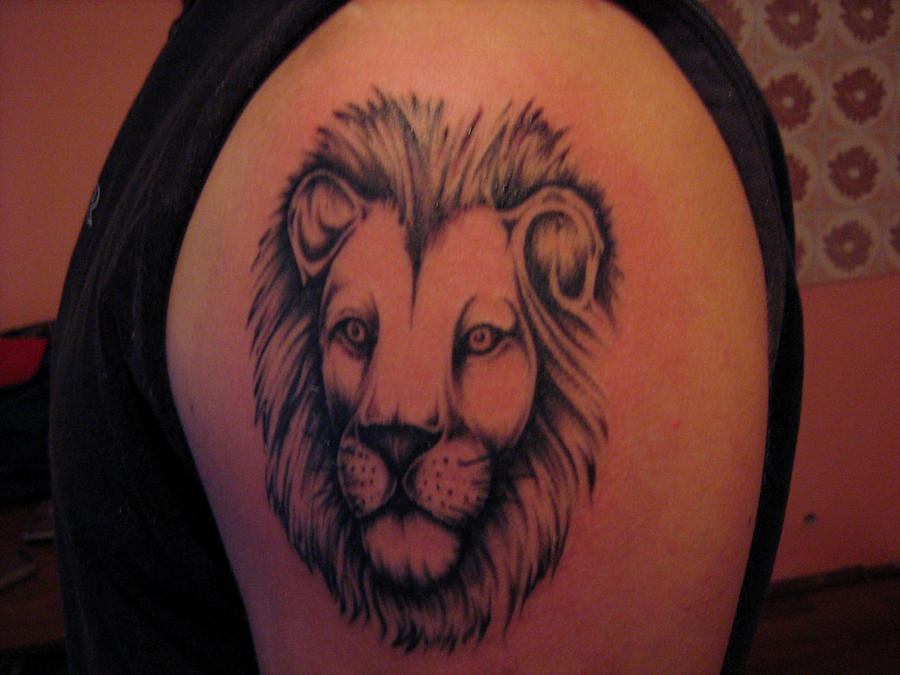 Lion - shoulder tattoo