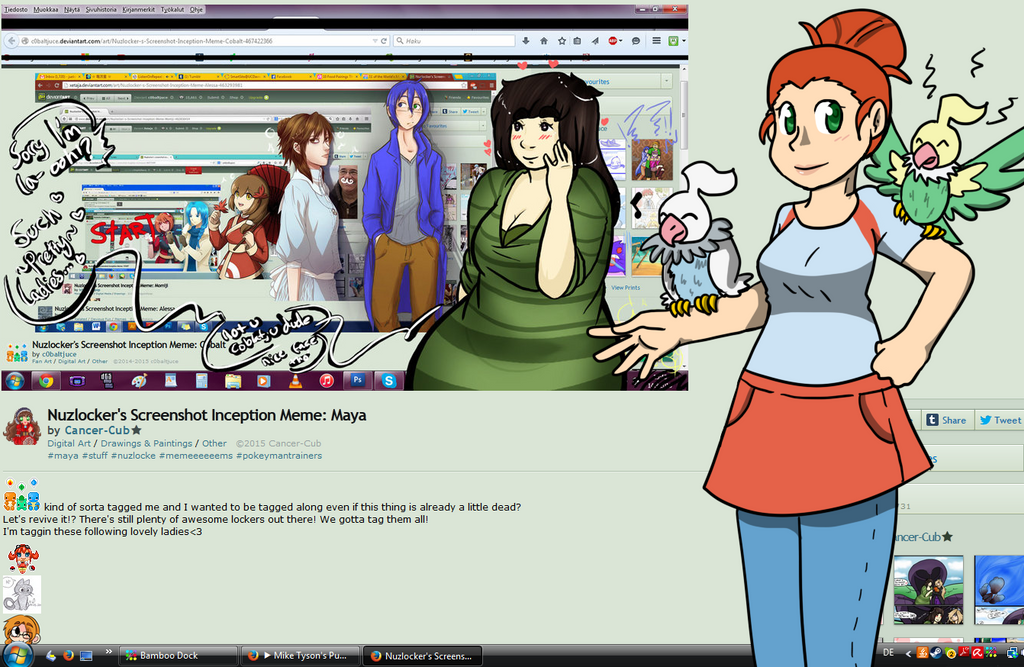 Nuzlocker's Screenshot Inception Meme: Lisa by Sixala