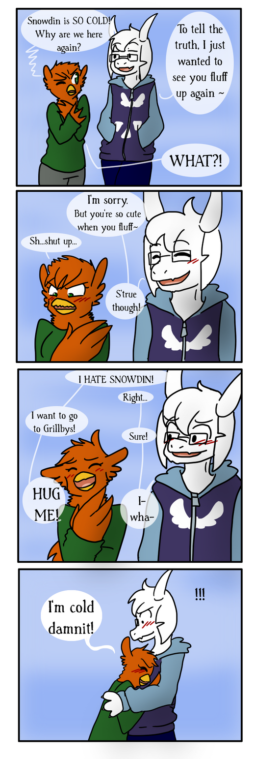Snowdin's cold by Sixala
