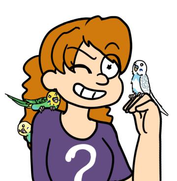 Lisa and birds by Sixala