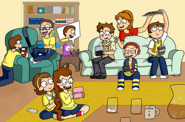 Morty Playdate by Sixala