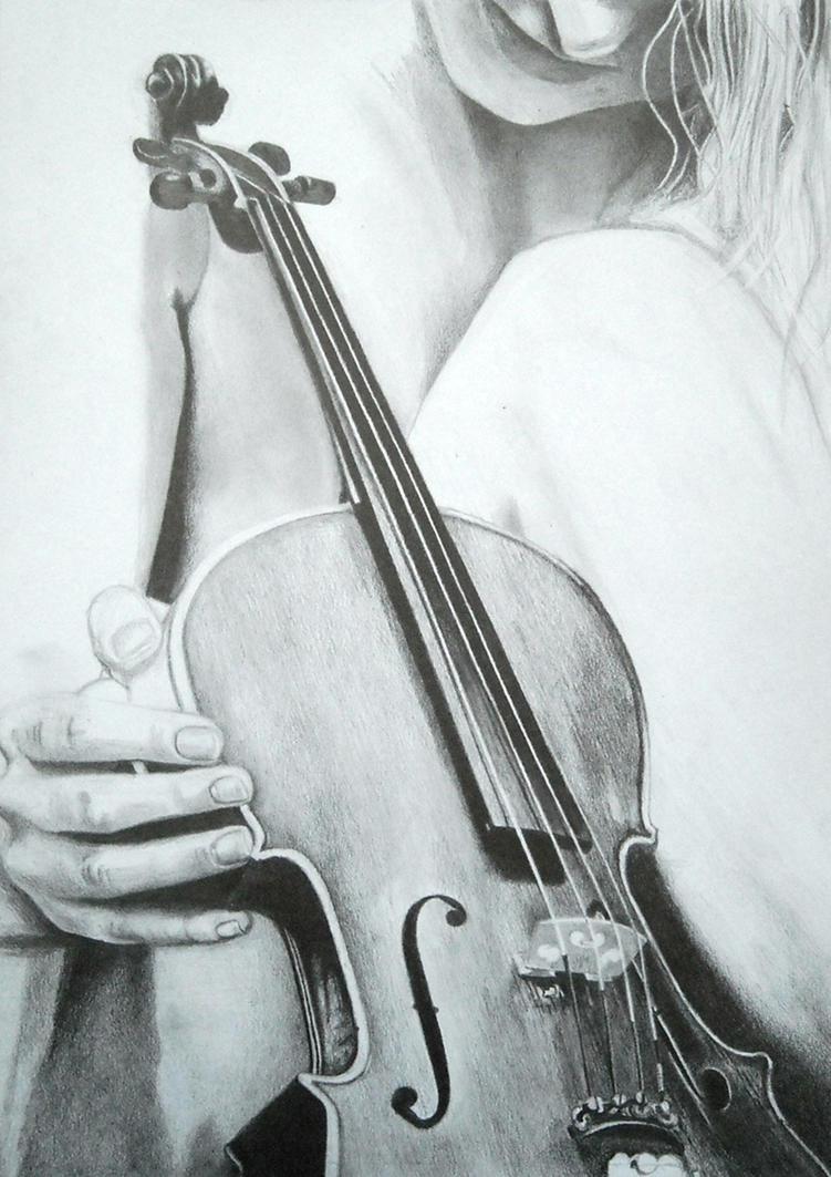 Line Drawing Violin : Violin wip by derschmuuu on deviantart