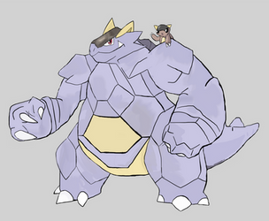 Male Kangaskhan Baby! by ThetripleTto