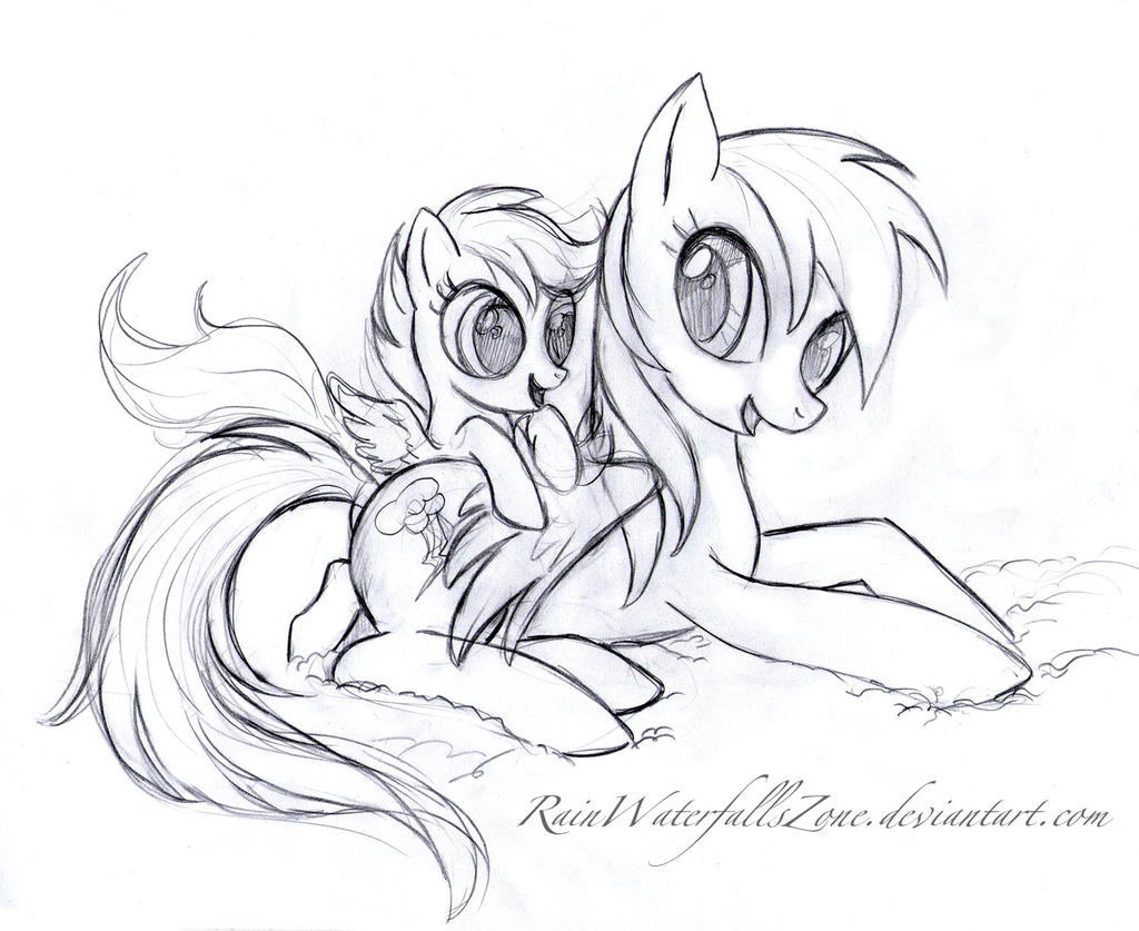 scootaloo and rainbow dash coloring pages - photo #9
