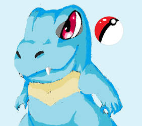 Pokemon Totodile. by 2T-Rosed