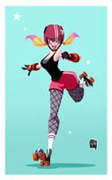 Roller Derby Girl by cesarvs