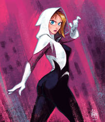 Spider Gwen by cesarvs