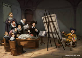 Dr Tulp Anatomy Lesson by cesarvs