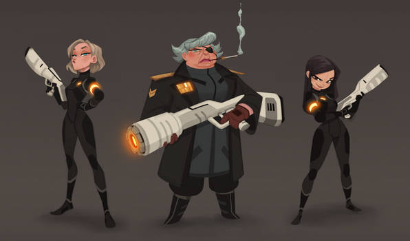 Space command girls