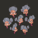 Old Woman Expressions