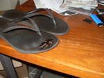 glued to flip-flops