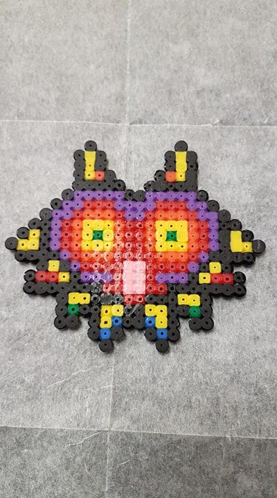 Mini Majora's Mask perler