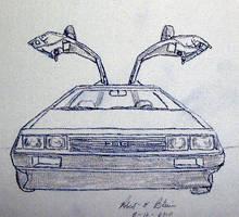 DeLoreanSketch13