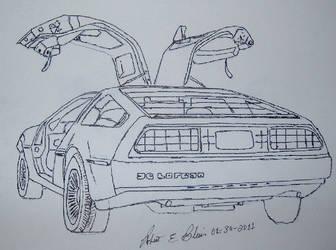 DeLorean Sketch 2S4P