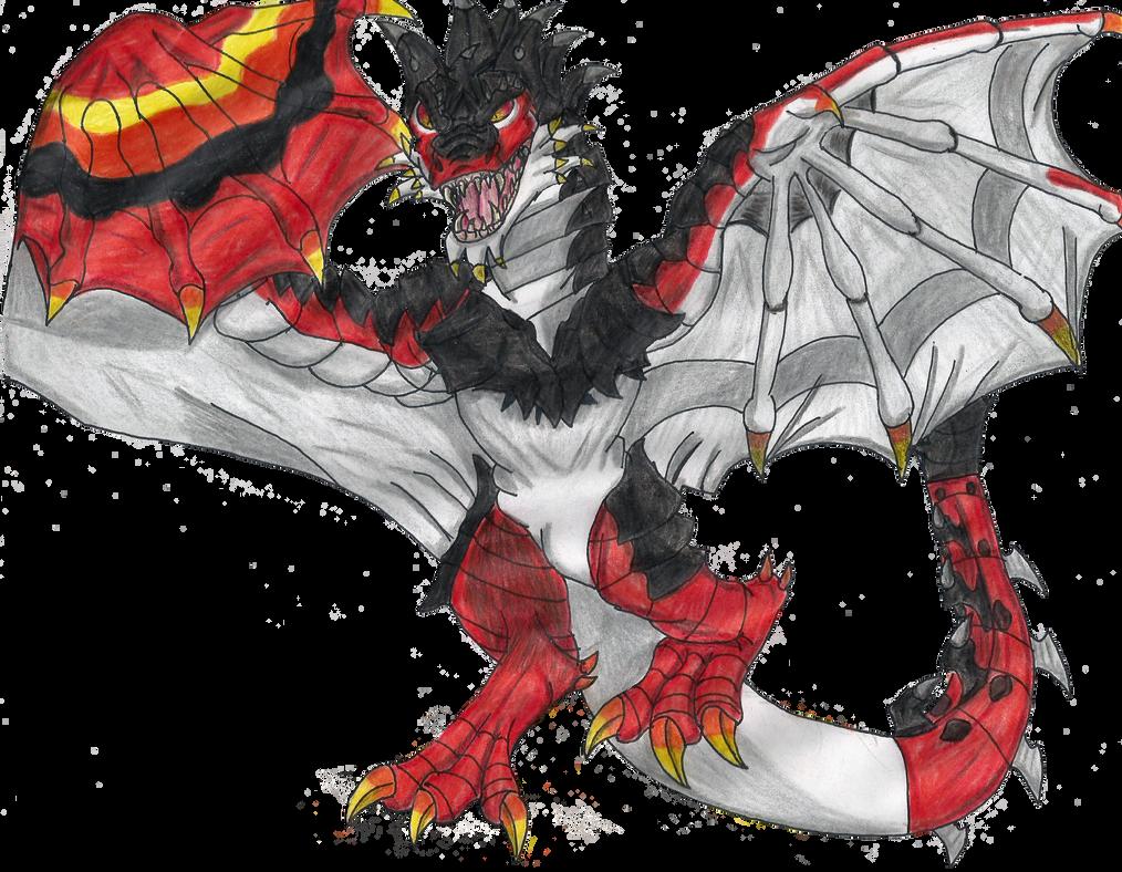 Fire dragon by DRAGONAHSFOREVER