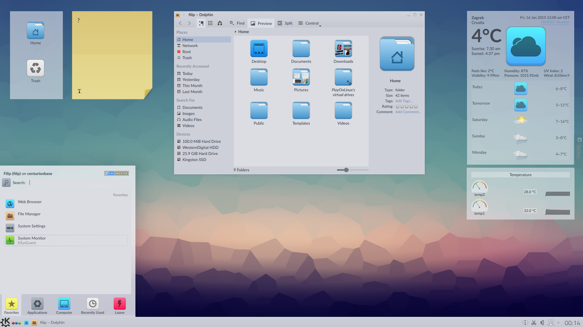 Bridging the gap between KDE4 and Plasma5 (WIP) by TheTyx