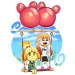 Inkling girl and Isabelle