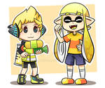 A kid and a squid
