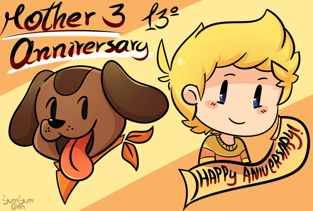 Happy anniversary mother 3! by YumYumCorn
