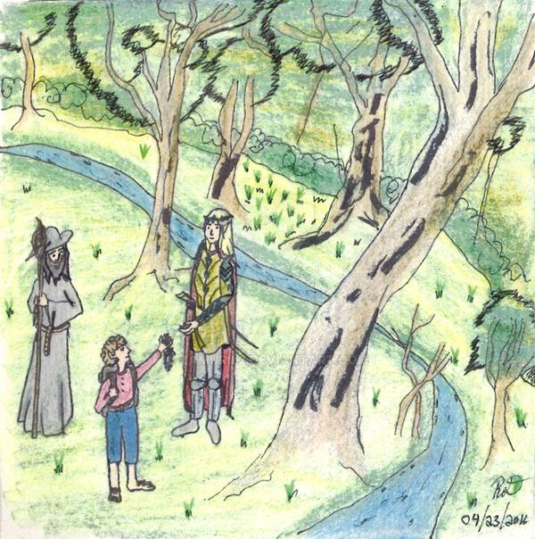 2016 Art Challenge - April - The Hobbit by Tamuril2