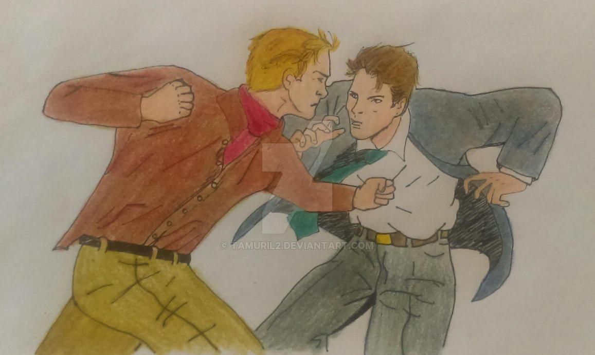 Illya vs Napoleon by Tamuril2